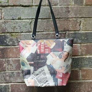 Pin-up girl/Newspaper tote
